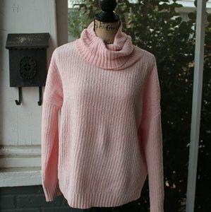 Women's Shiny Chenille Cowl Neck Sweater